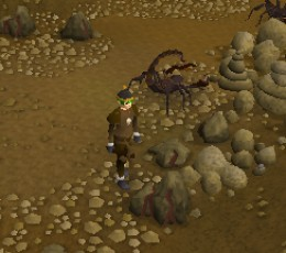 Runescape powermining in the Al Kharid mine.