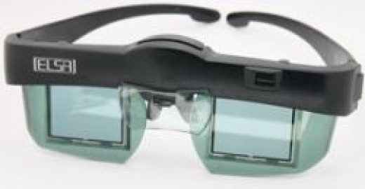 A pair of LCD shutter glasses.