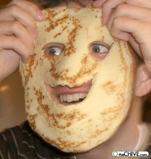Such a happy pancake face!