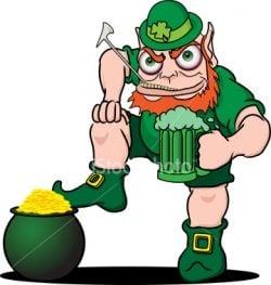 Leprechaun Holding Beer Mug