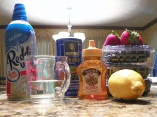 Blueberry Lemon Sorbet Ingredients