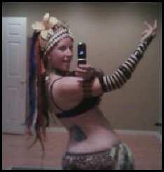 Belly dancing selfie