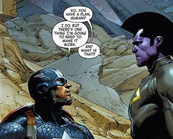Captain America's Battleplan. Excerpt from Infinity #3 (2013).