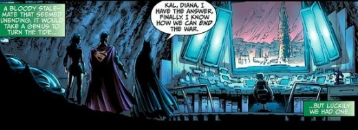 Wonder Woman, Batman, and Superman die in Earth 2 #1 (2012)