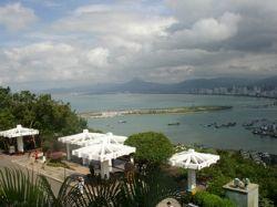 A View  of Dadonghai Beach from Lu Hui Tou Park