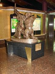 Sculpture at Sanxingdui Museum Foyer