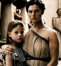 Spartan mother and daughter