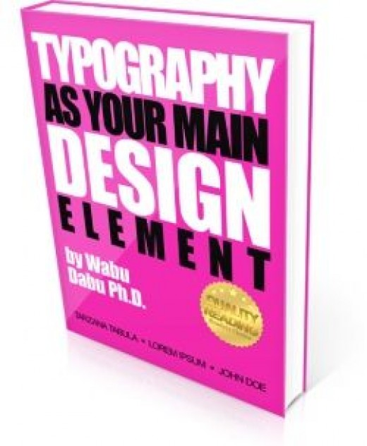 Use typography as your design element