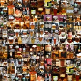 Collage of beers. www.belgian-beers.eu