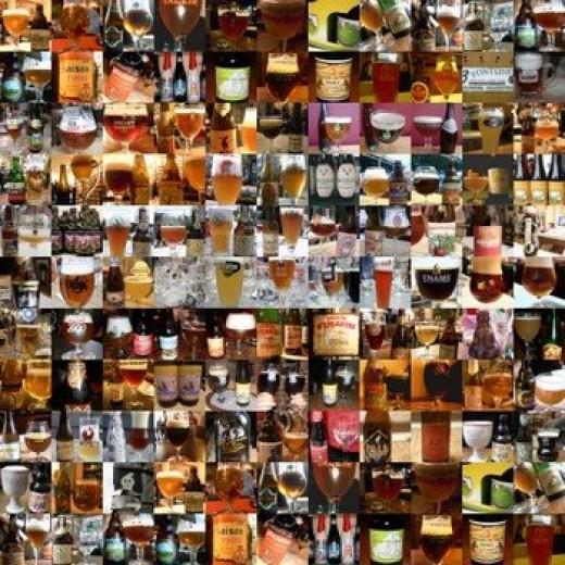 Collage of beers. www.belgian-beers.eu