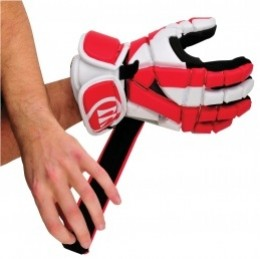Then the cuff unfolds off the glove.