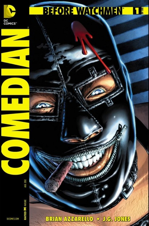"Before Watchmen: The Comedian #1. Edward Blake appears to have very close ties to the Kennedy family. In this issue, we see how intimate they are. Jackie Kennedy gives him the ""Thumbs Up"" to take out Marilyn Monroe, which he does for the good of the"