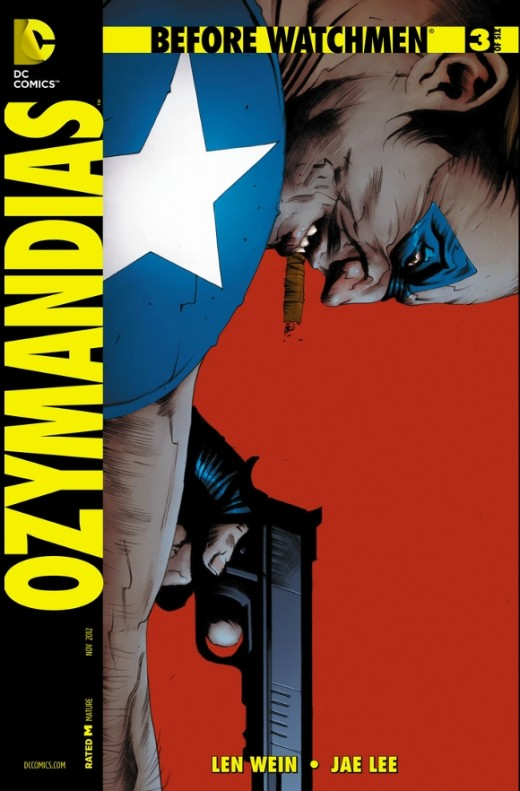Ozymandias #3. Adrian and The Comedian face off, but they are evenly matched. The fight ends in a draw as they go their separate ways. Later, the newspapers reveal Dr. Manhattan and he begins building his Antarctica Headquarters while studying the go