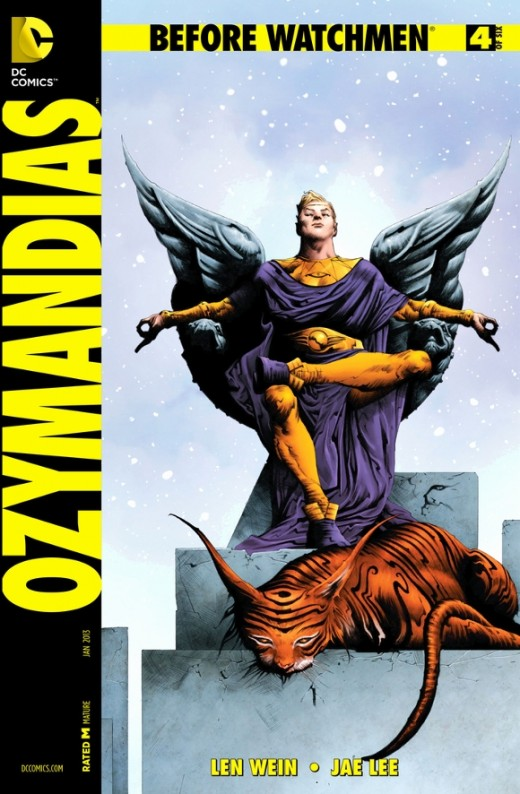 Ozymandias #4. Adrian continues his crime-fighting adventures, but realizes that his heart is elsewhere, unlike the others. His journal then details his meetings with President Kennedy, the Cuban Missile Crisis, JFK's Assassination, the coming of the