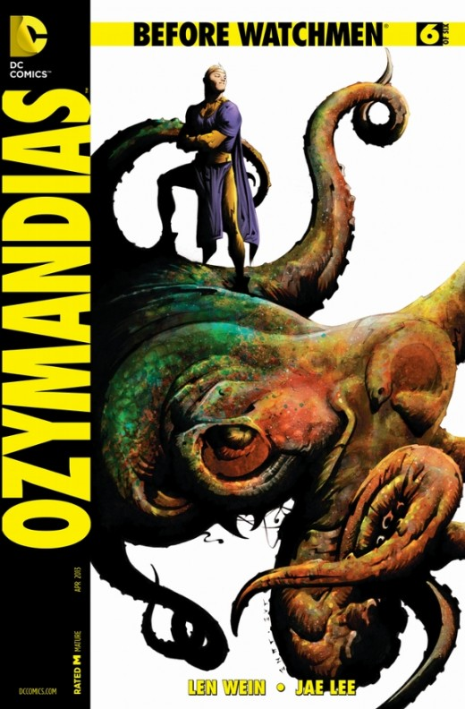 Ozymandias #6. (This final issue ties the entire story of Adrian together as he pulls scientists and artists together to work secretly on faux alien while he also attempts to duplicate Manhattan's teleportation ability. At the end, The Comedian finds