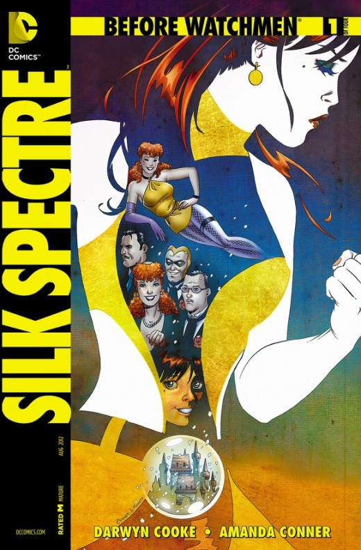 Before Watchmen: Silk Spectre #1 Specifically designed after BW: The Minutemen #1. Laurie is the daughter of infamous crimefighter Sally Jupiter; the story moves to 1966 where she has been raised and trained by her mother. Her life takes a turn, thou