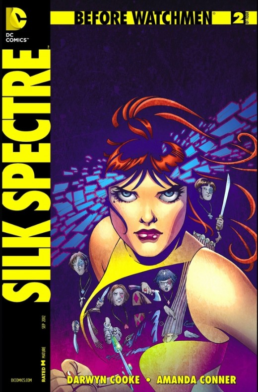Before Watchmen: Silk Spectre #2. Laurie' s life if full of new and wondrous events as she moves to San Francisco with her boyfriend and has the hippie experience. Taking a protecting role in her community, she has a dress fashioned for her and adopt