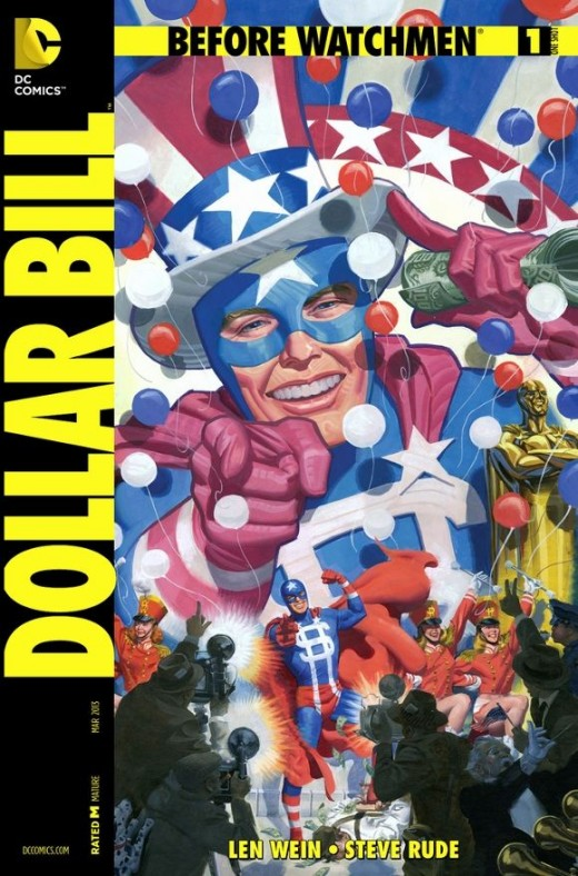 Before Watchmen: Dollar Bill #1. This is a one-shot that goes into the origin of William Brady aka Dollar Bill. It starts with his High School Football career and how his life took a turn for the worse until he signed up as a publicity stunt for the