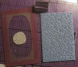 Card frame, Texture Mat and Clay