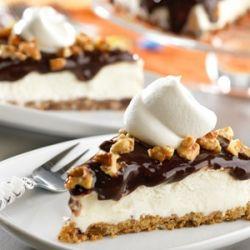 Mississippi Mud Pie with Vanilla Ice Cream & Pecans