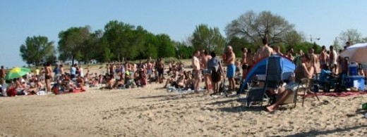 Osterman Beach in Chicago