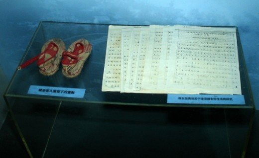 Shoes of executed child in Zhazidong Prison Camp at Chongqing