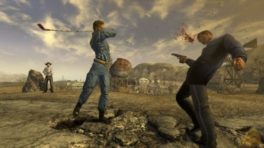 Fallout New Vegas features a revamped combat system, including improvements to melee combat.