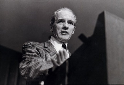 Professor Carroll Quigley at lecturn