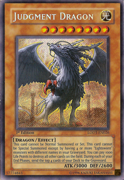 Example Monster Card - Judgement Dragon