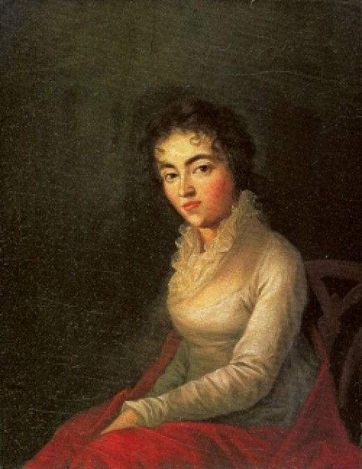 a picture of Mozart's wife