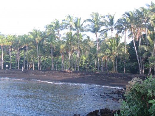 Black Sand Beach at Panalu'u, Hawaii