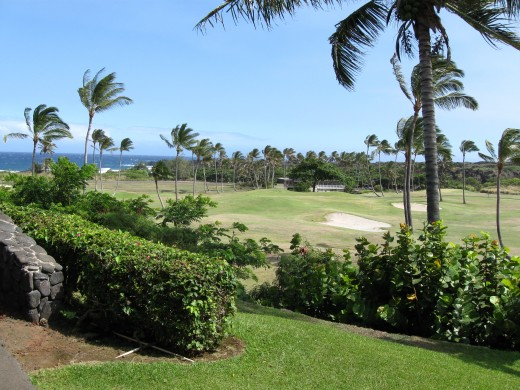 Golf Course at new Sea Mountain Resort in Panalu'u, Hawaii