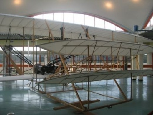 A Wright Brothers Replica Plane At The Wright Brothers Memorial