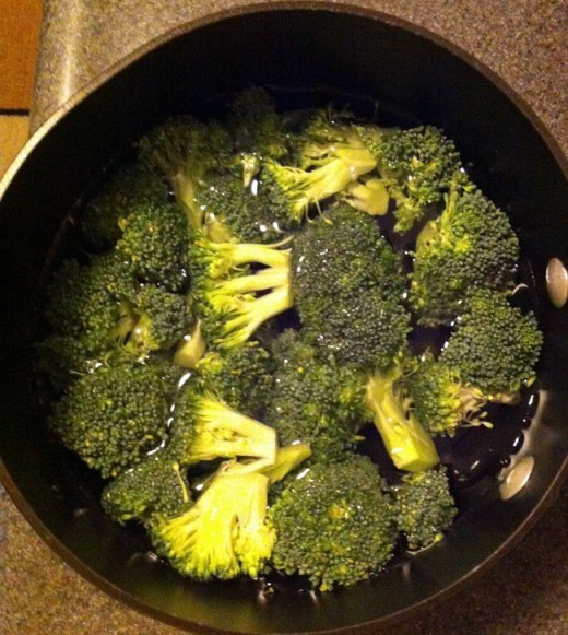 Fresh broccoli ready to cook.