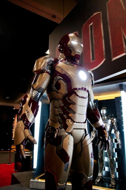 A front profile of the latest Iron Man 3 armor design.