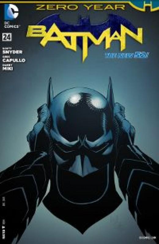 The cover of Batman #24 (2013). Part of Batman: Zero Year