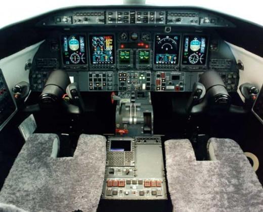 Learjet 45 cockpit