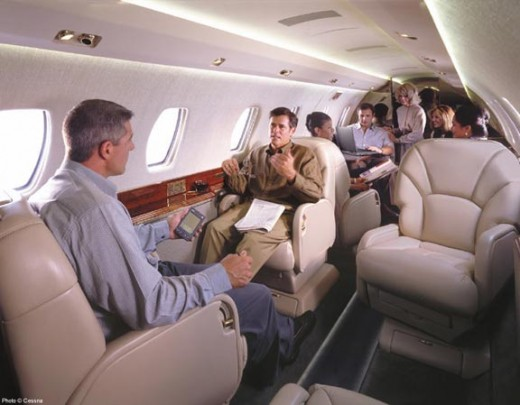 Citation X passenger cabin