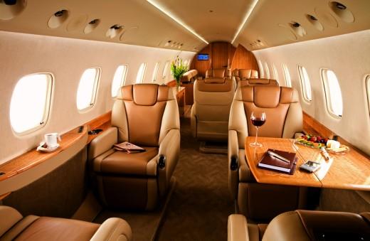 Falcon 7X passenger cabin