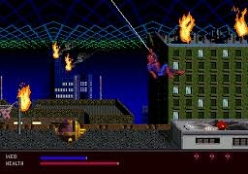 The Web of Fire allows your character (Spiderman) to climb buildings and shoot webs at criminals.