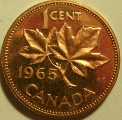 1965 Canadian Pennies Their Varieties