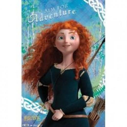 Brave Merida movie poster