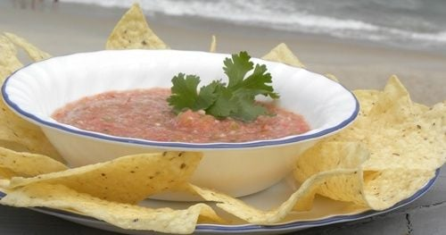 garden salsa with cilantro