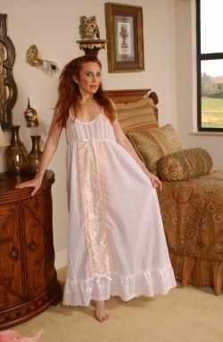 'Bewitching Bride' nightgown form Certain Style. Embroidered cotton voile.
