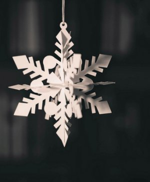 Snowflake on a String