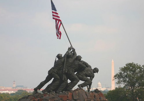 Photo of Iwo Jima Raising of the Flag sculpture in Washington, D.C. by dbking @ flickr