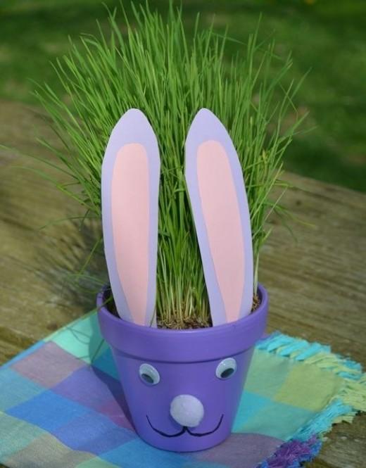 flower pot easter bunny craft