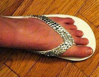 Bedazzle Flip Flops