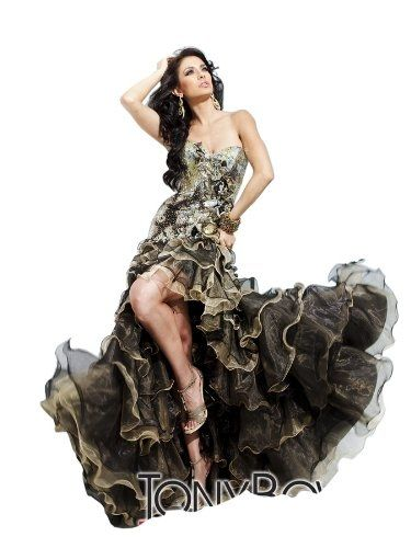 Tony Bowls 11209 Camouflage look prom dress