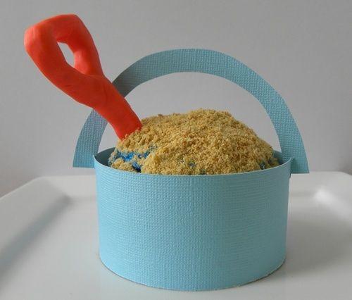 Sand bucket cupcake wrap